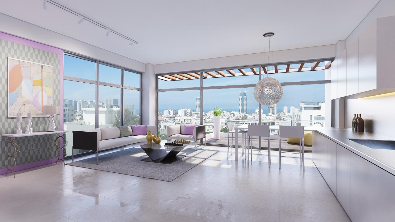דירת 3 חדרים בפרויקט חדש בלב העיר